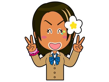 Double Piece _ Kogal High School Girl B_045