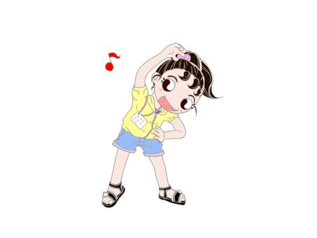 Radio gymnastics girl