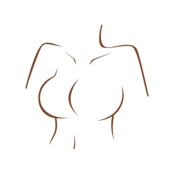 Woman's chest (line drawing)