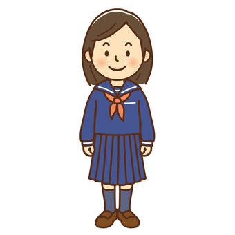 Youth junior high school student