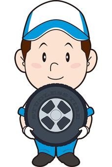 자동차 정비사 (타이어 교체)