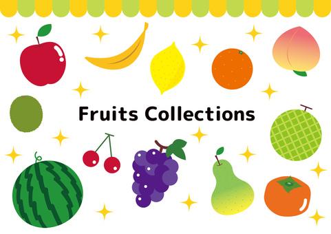 Fruits fruit set