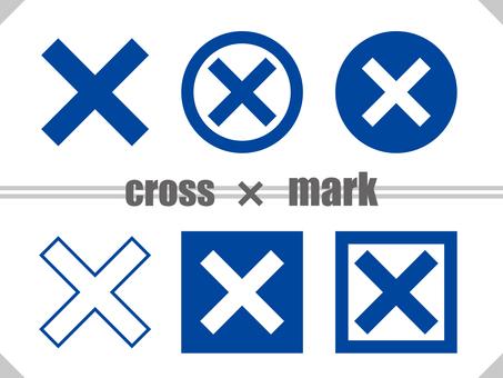 Cross mark TYPE01 Blue