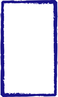 Blue brush frame