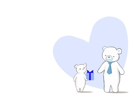 Polar bear father
