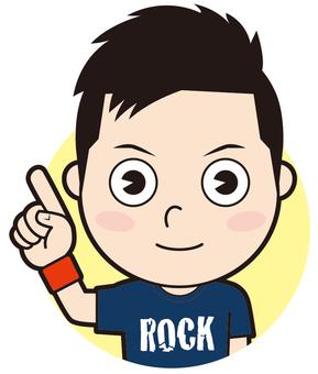 指著石頭男人(普通)