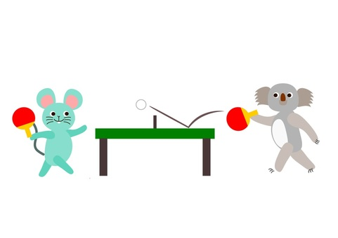 Table Tennis Ping Pong Animals
