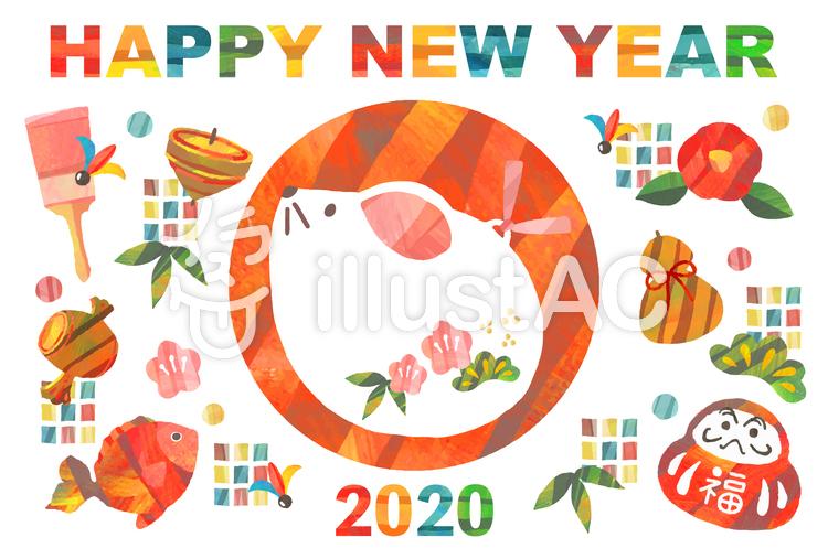 2020年・年賀状・子年のイラスト