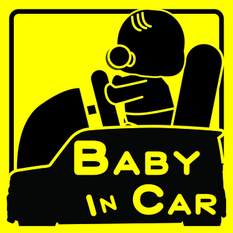 baby in car (car ride)