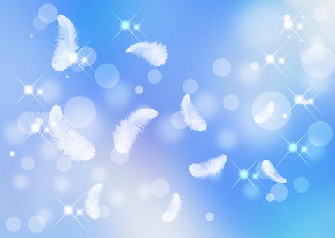 날개 _ 블루 배경