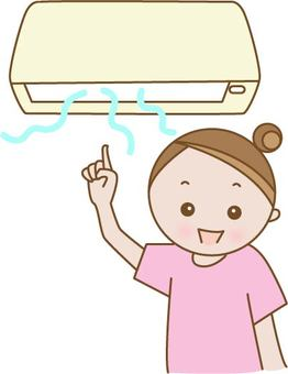 Air conditioner and girl