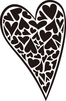 Accent Heart 2 Black