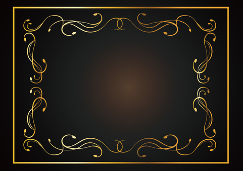 Decorative ruled frame 006_ gold