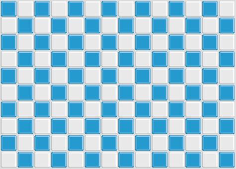 Checkered tile light blue