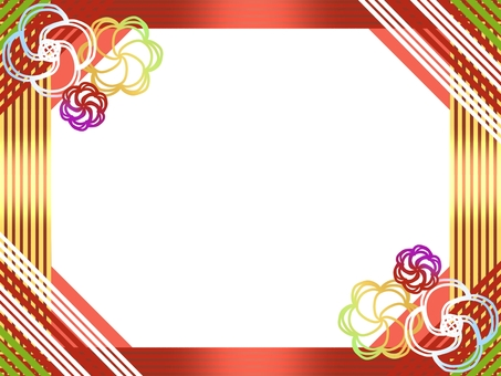 Japanese style frame (water drawing image)