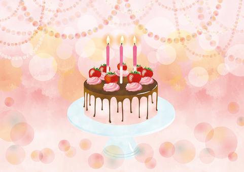 Strawberry anniversary cake
