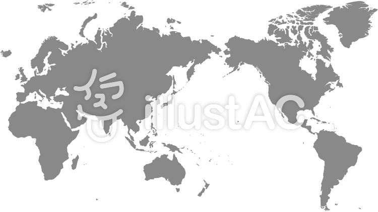 世界地図 モノクロイラスト , No 922499/無料イラストなら