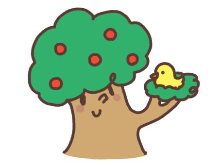 커다란 나무와 작은 새