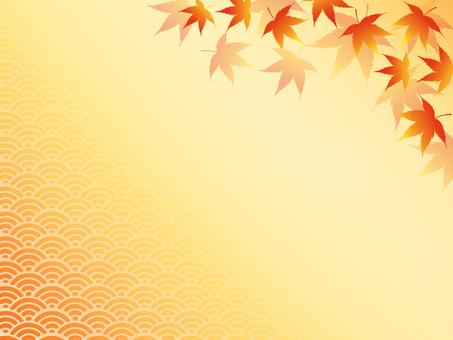 Japanese style autumn leaves 5