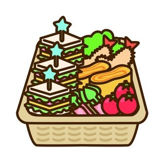 Sandwich lunch box (basket)