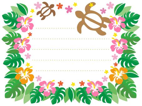 Hibiscus Hawaiian Card