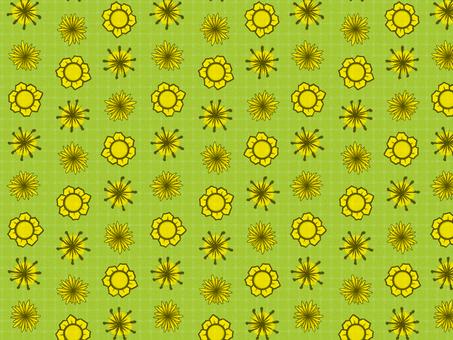 Chiyogami yellow flower (yellow green)