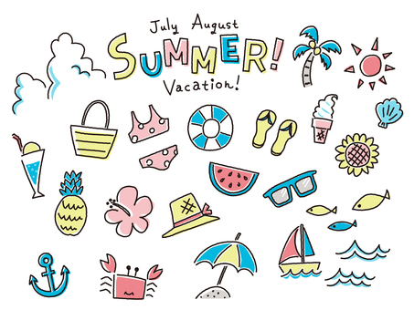 Summer icon graffiti touch