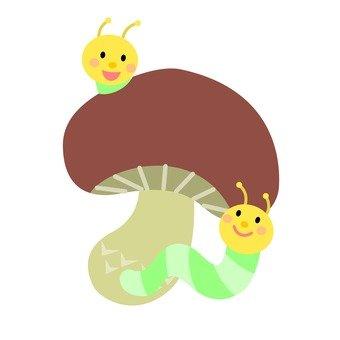 昆蟲和蘑菇