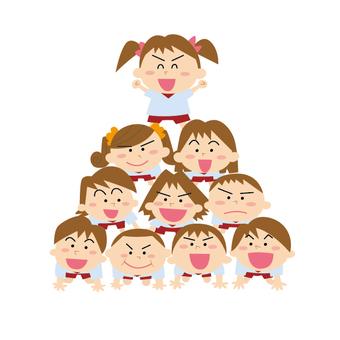 運動会ピラミッド