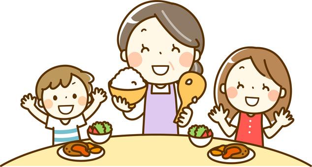 Children gather in the children's cafeteria