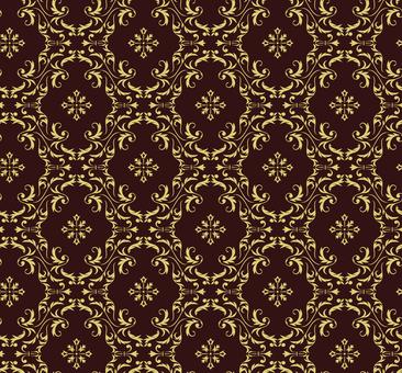 ダマスク織パターン3