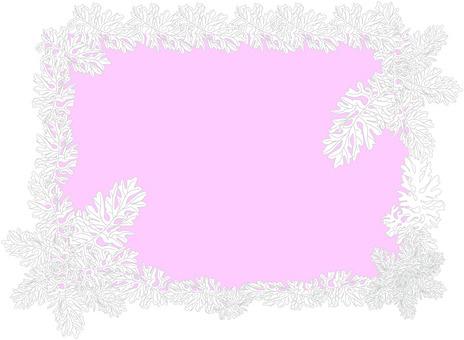 Leaf frame pink