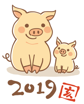 2019 New Year's card material 01