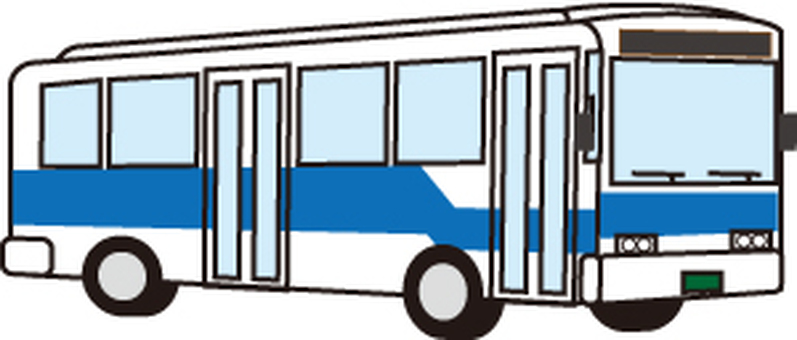 Bus line oblique front