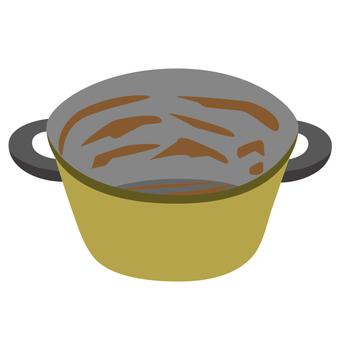 Dirty curry pot