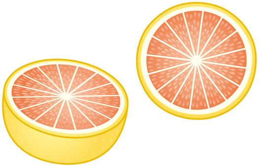 Half cut grapefruit (ruby)