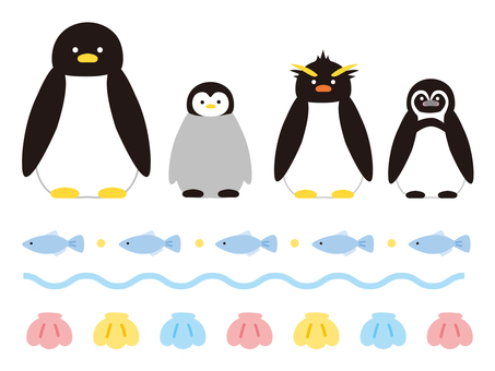 Various penguins