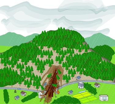 Landslide disaster