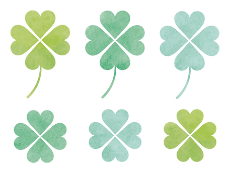 Watercolor-like clover
