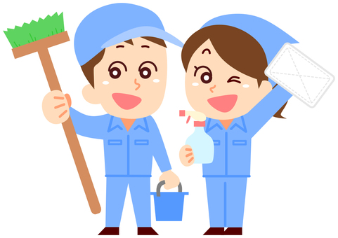 Cleaner's man and woman