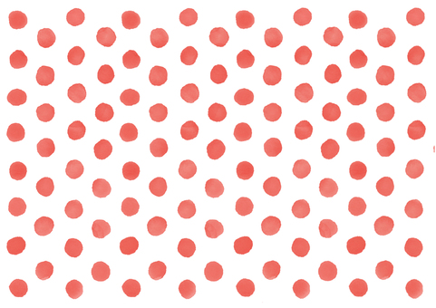 Watercolor polka dot background (red)