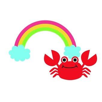 Rainbow and Crab
