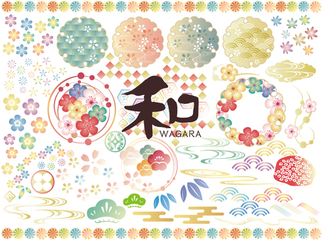 Japon tarzı renkli özet