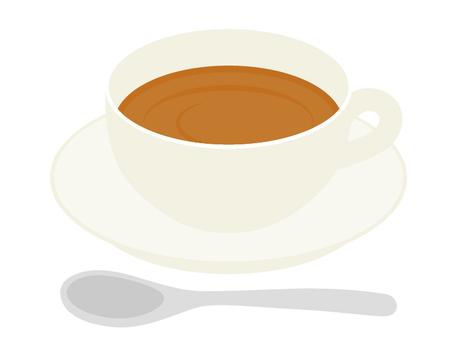 Hot drink straight tea
