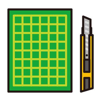Cutter and cutter mat