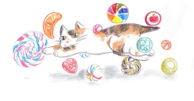日本糖果和日本貓