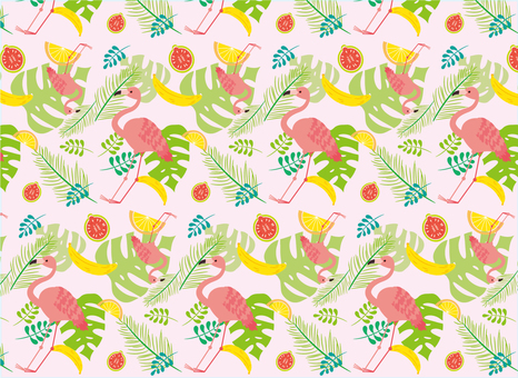 Tropical background (pink)