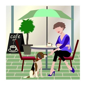 Women and dogs · cafe