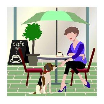 女人和狗咖啡厅