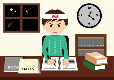 受験勉強のイメージ